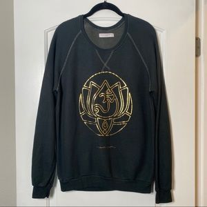 Spiritual Gangster Green Raglan Sleeve Sweatshirt